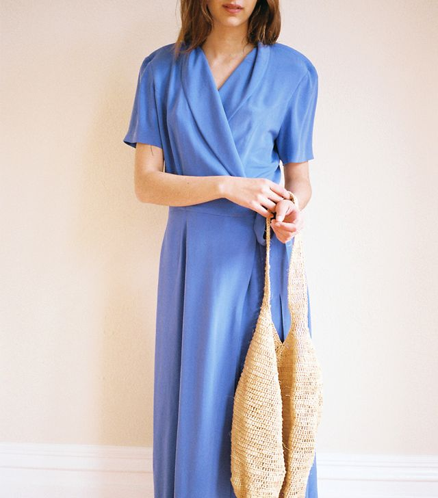 Lisa Says Gah Vintage Silk Wrap Dress