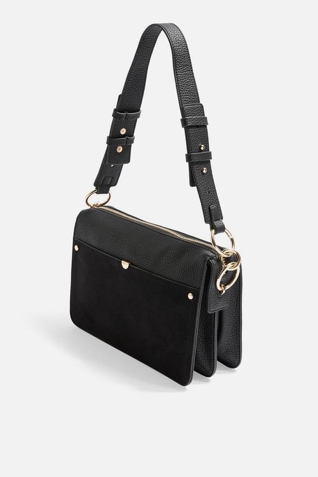Topshop Clara Suede Shoulder Bag