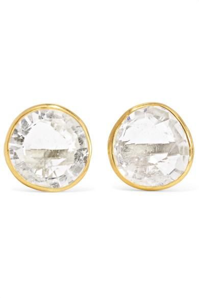 18-karat Gold Crystal Earrings