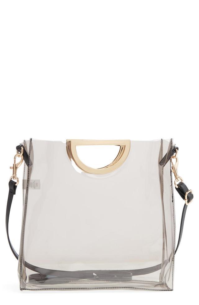 Bp. Mini Translucent Metal Handle Bag -