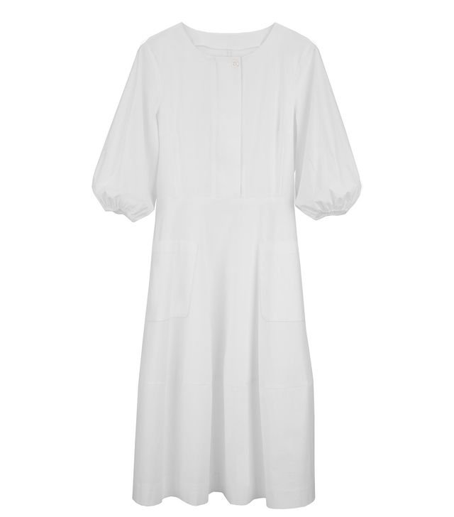 Cuyana Poplin Cinched-Waist Dress