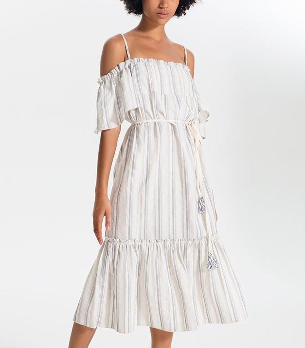 Lemlem Juni Shirred Maxi Dress