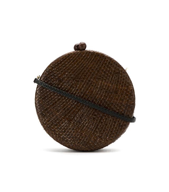 straw 'Maggie' clutch