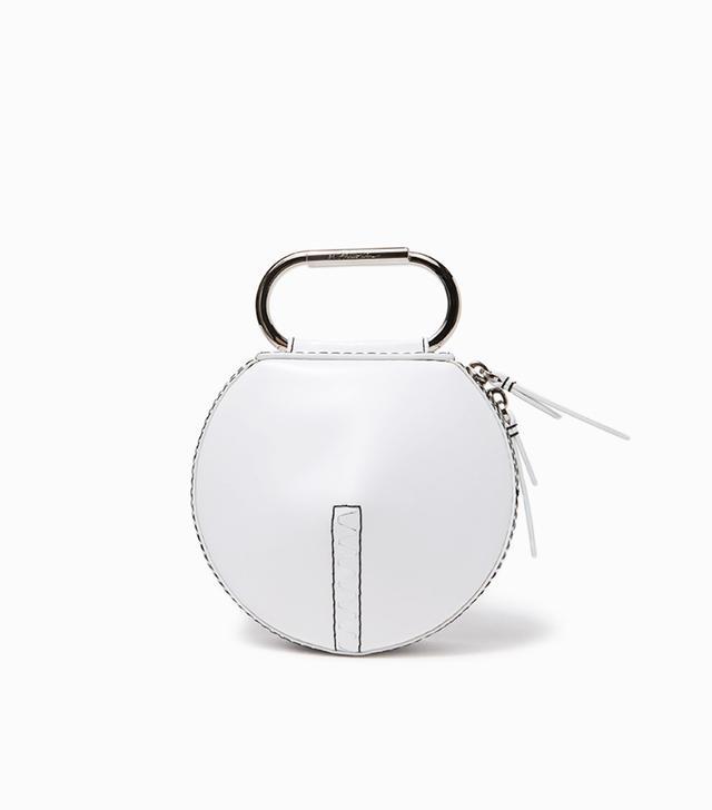 Alix Circle Clutch in White