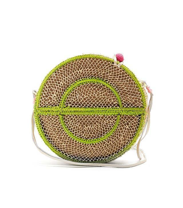 Nilsa circle toquilla-straw cross-body bag