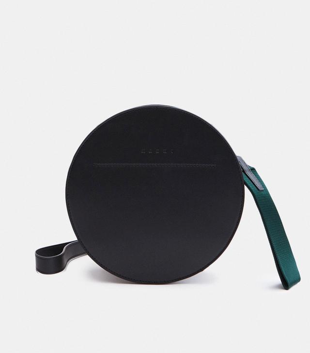 Bandoleer Shoulder Bag in Black/Fog