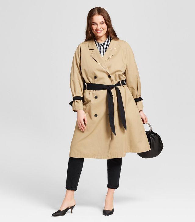 Plus Size Modern Trench Coat