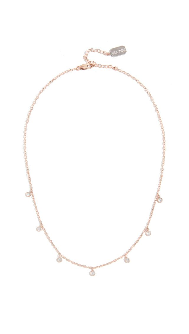 Rose Gold Vermeil Drop Necklace