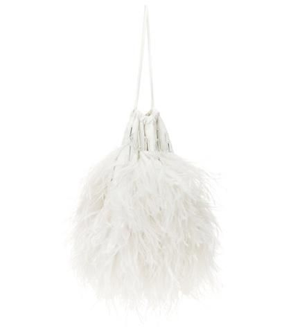 Ostrich feather clutch