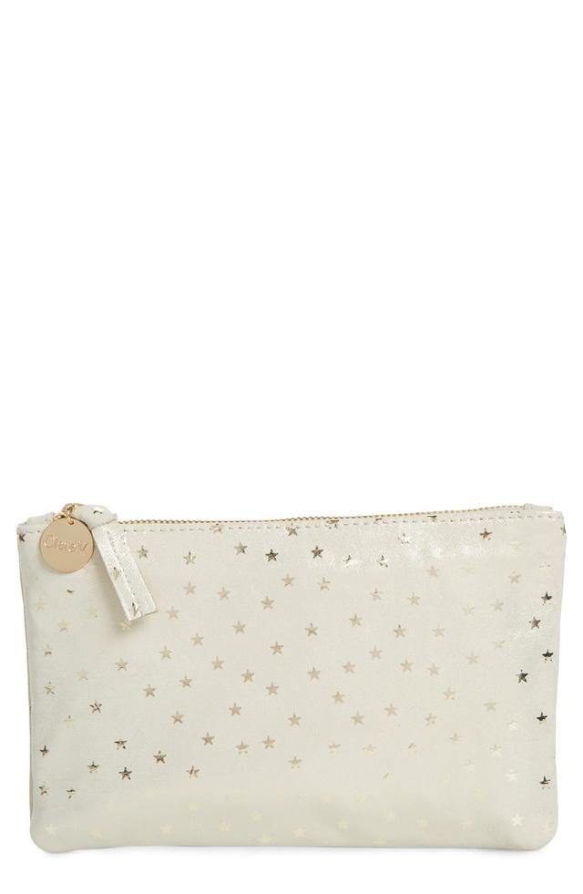 Supreme Star Shimmer Suede Wallet Clutch -