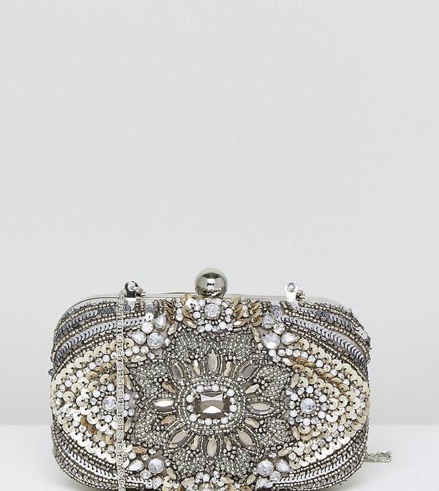 All Over Embellished Box Clutch Bag