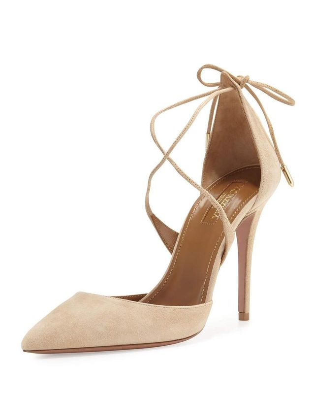 Matilde Crisscross Suede 105mm Pump