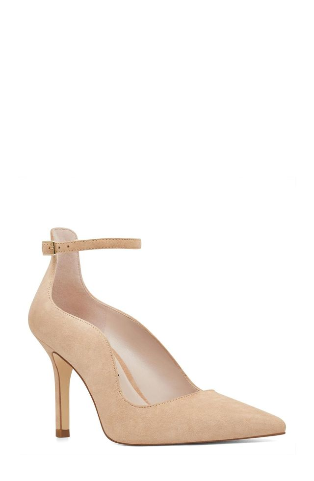 Marquisha Scalloped Ankle Strap Pump