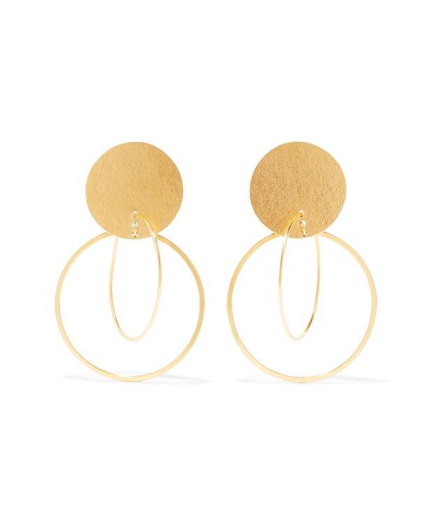 Halo Gold-tone Earrings