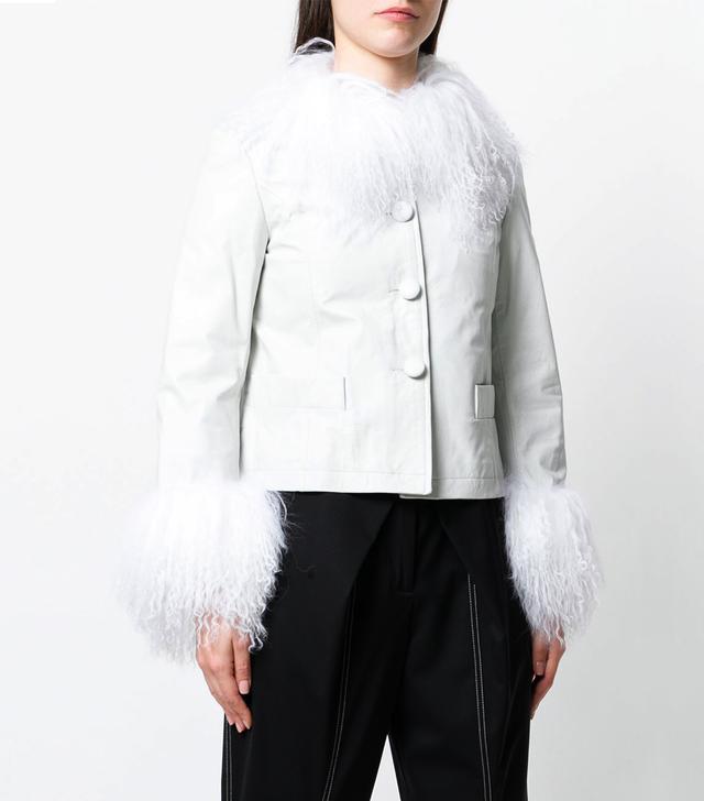 shearling trim jacket