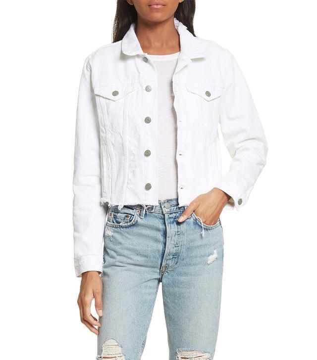Women's Grlfrnd Cara Crop Denim Jacket