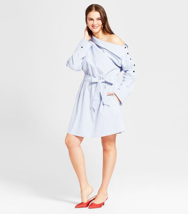 Plus Size Off The Shoulder Mini Dress