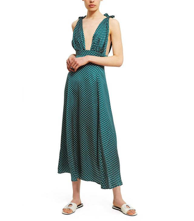 AlexaChung Polka Dot Scarf Dress