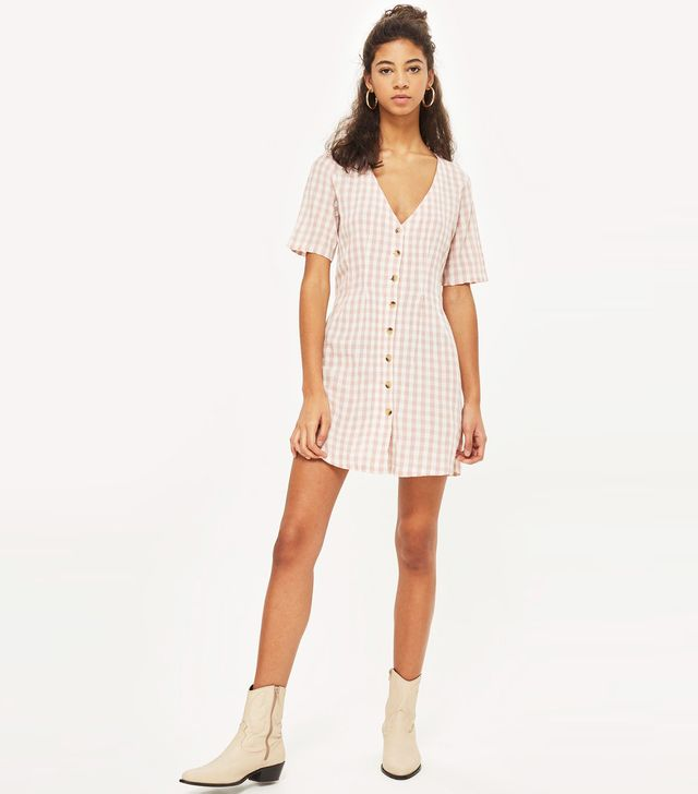 Tospshop Gingham Mini Dress