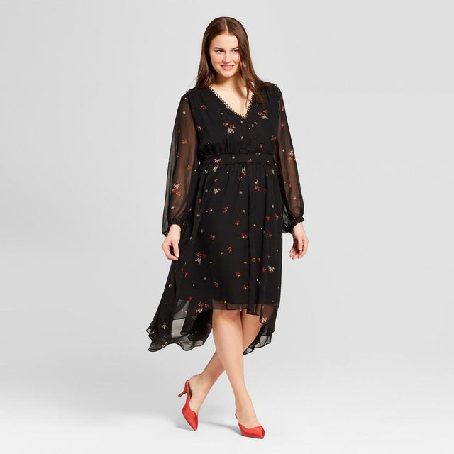 Plus Size Handkerchief Hem Dress