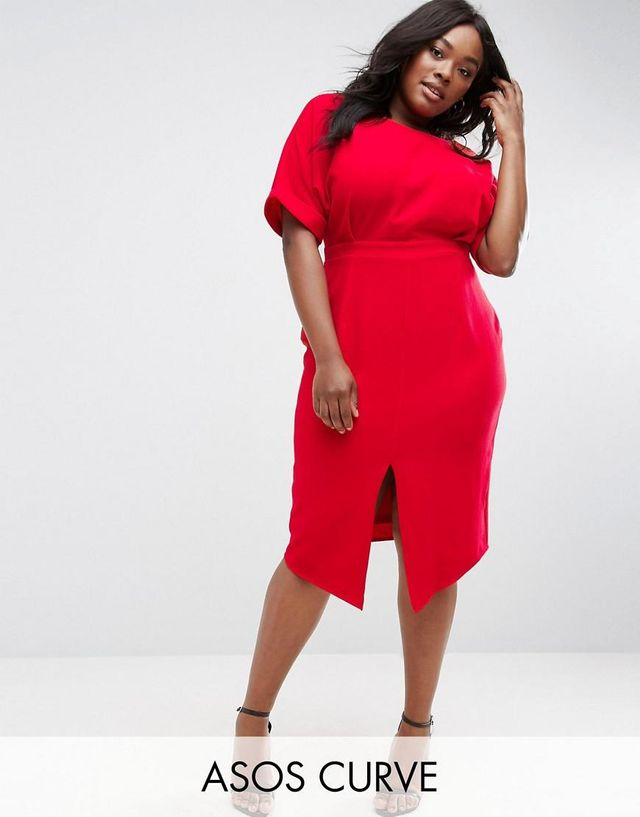 ASOS CURVE Smart Midi Dress