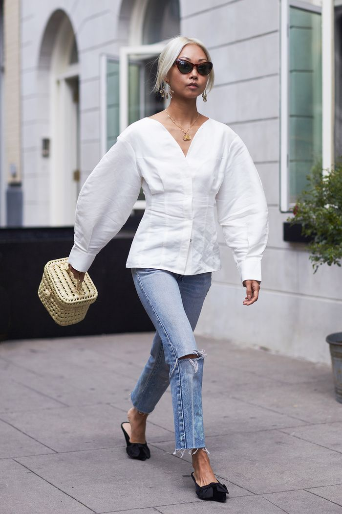 The Outfits We Always Wear With Mules Who What Wear