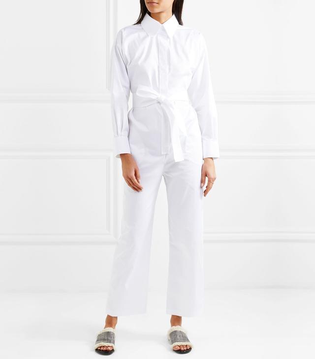 Belted Cotton Jumpsuit