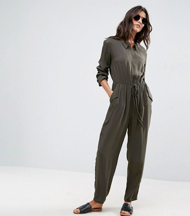Utility Jumpsuit with Zip Front
