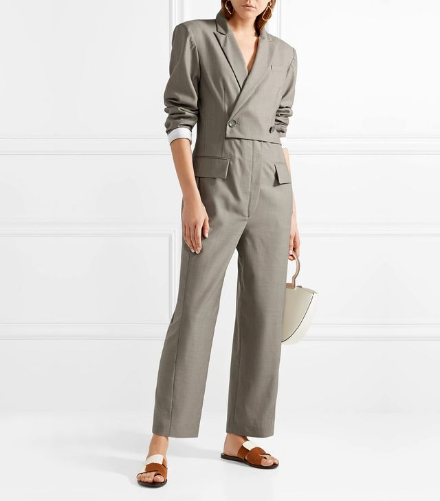 Double-breasted Wool Jumpsuit