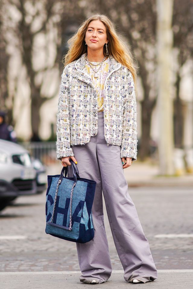 <p>Looser-fitting pants are on trend.</p>