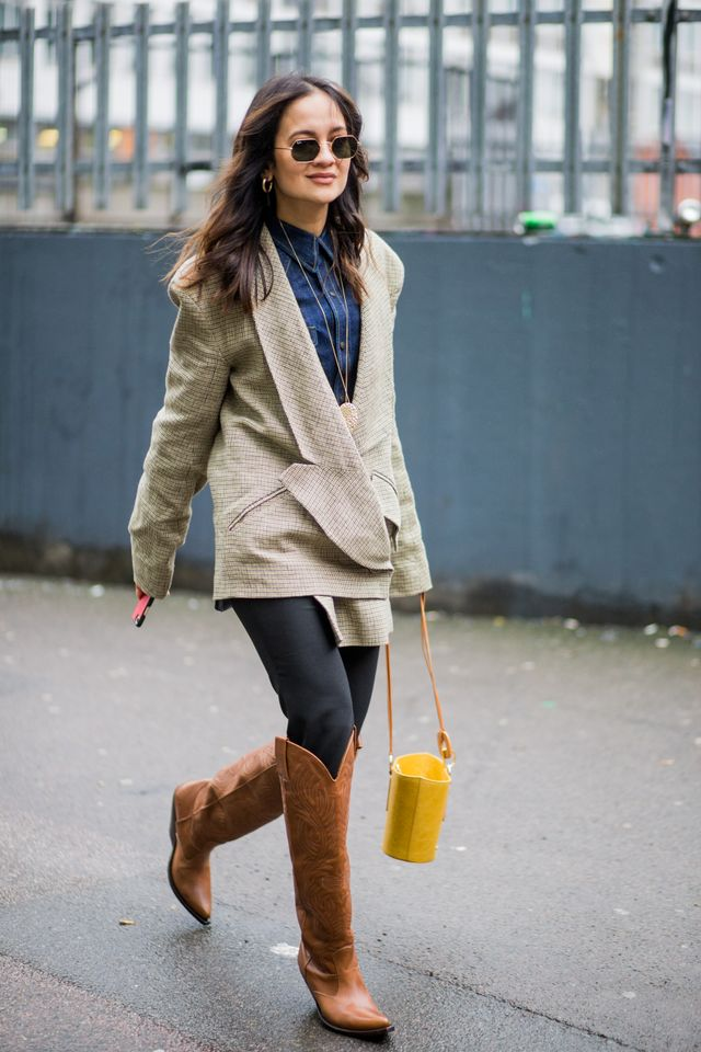 <p>Cowboy boots are the It shoes to try right now.</p>