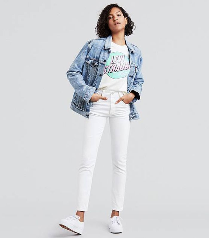 a45bff5f78 I Wore Only White Jeans Outfits for a Week