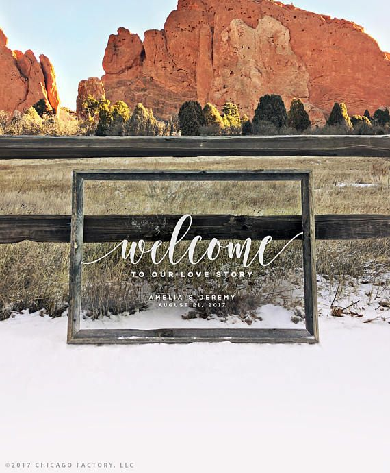 Chicago Factory Gifts Love Story Clear Acrylic Wedding Sign