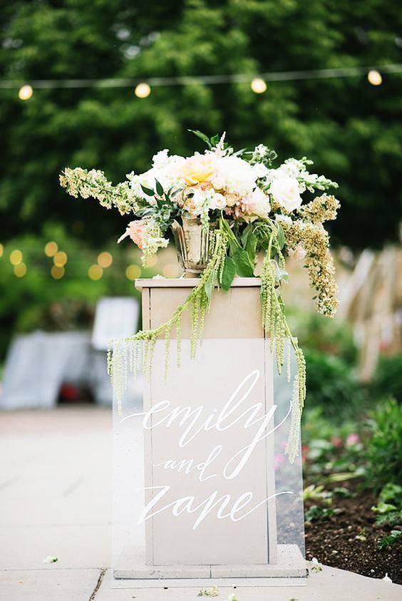 MV Creative Maison Personalised Acrylic Wedding Sign