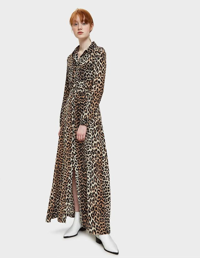 Fayette Silk Maxi Dress in Leopard