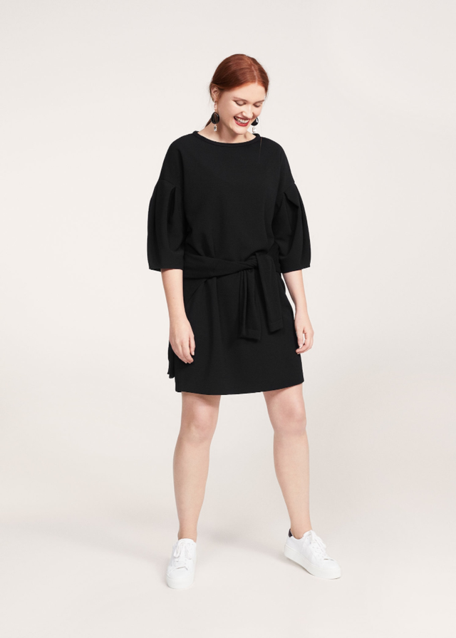 Violeta by Mango Puffed Sleeves Dress