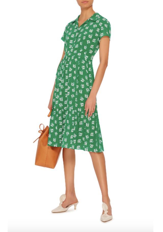 Charlotte Poppy Printed Silk Dress