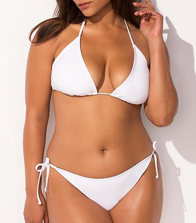 Ashley Graham x Swimsuits for All Icon White Bikini