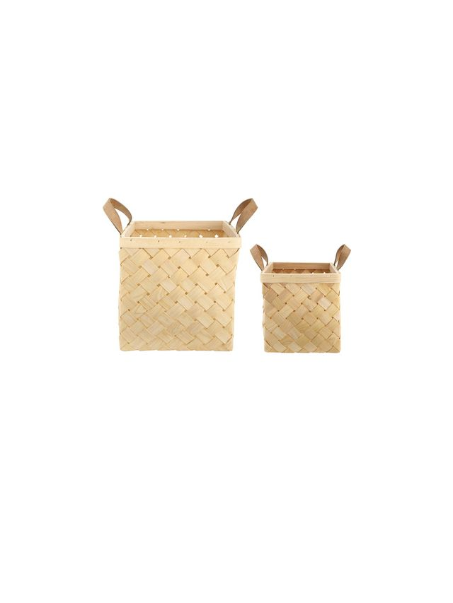 Kmart Set of 2 Wooden Baskets