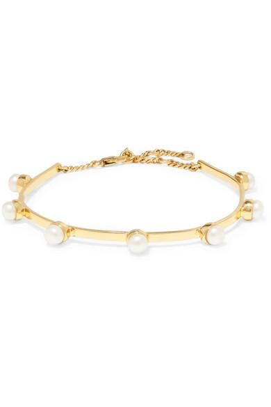 Gold-plated Freshwater Pearl Anklet