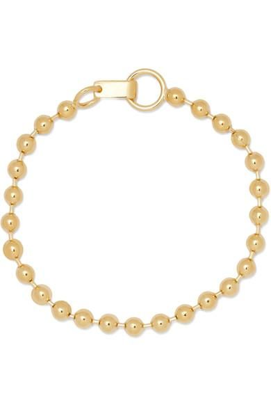 Ball Chain Gold-plated Anklet