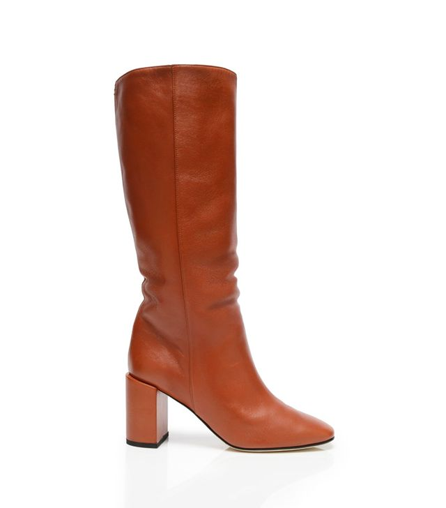 Dear Frances Bucket Boots in Brick Red
