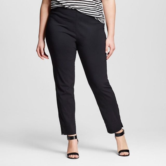Plus Size Skinny Crop Pants