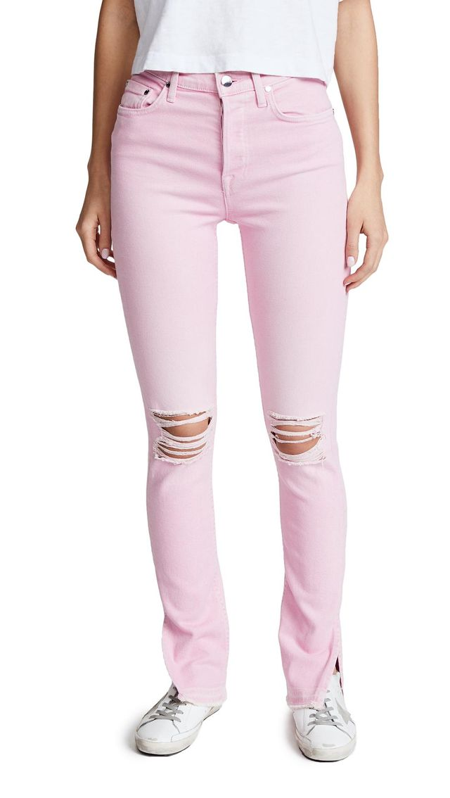 The High Rise Split Skinny Jeans