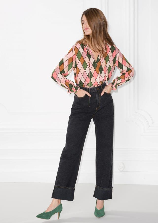 Cuffed High Waisted Jeans