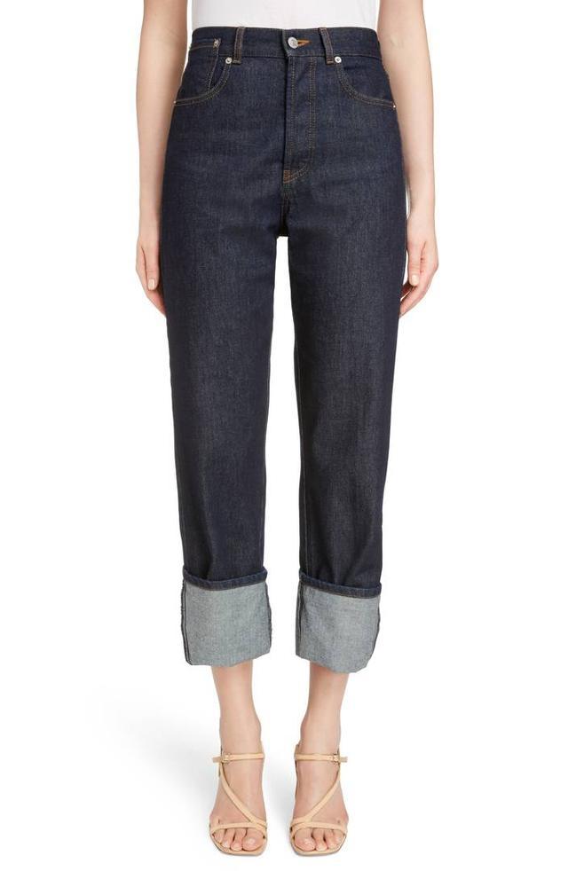 Dries Van Noten Cuffed Boyfriend Jeans