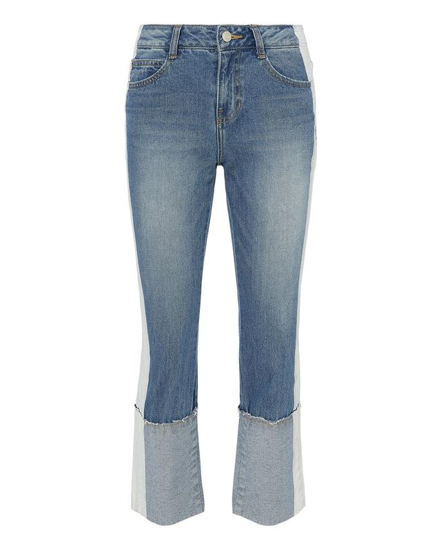 SJYP Painted Cuff Up Jeans Denim S