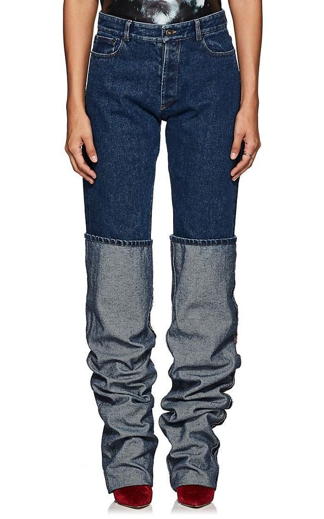 Women's Oversized-Cuff Jeans