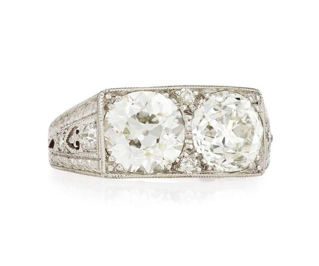 Estate Art Deco Two-Stone Diamond Ring