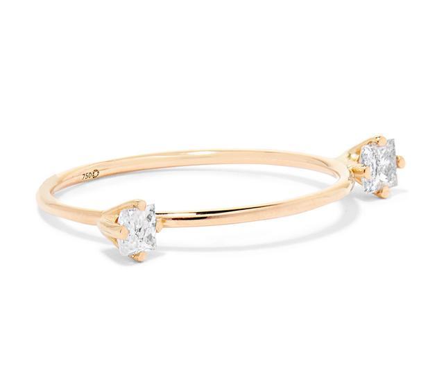 Dirty Gold Diamond Ring